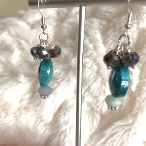 Frontrow.style Jewelry - Sterling Silver Earrings Amazonite w Teardrop